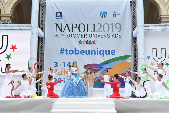 Lightening of Napoli 2019 Torch
