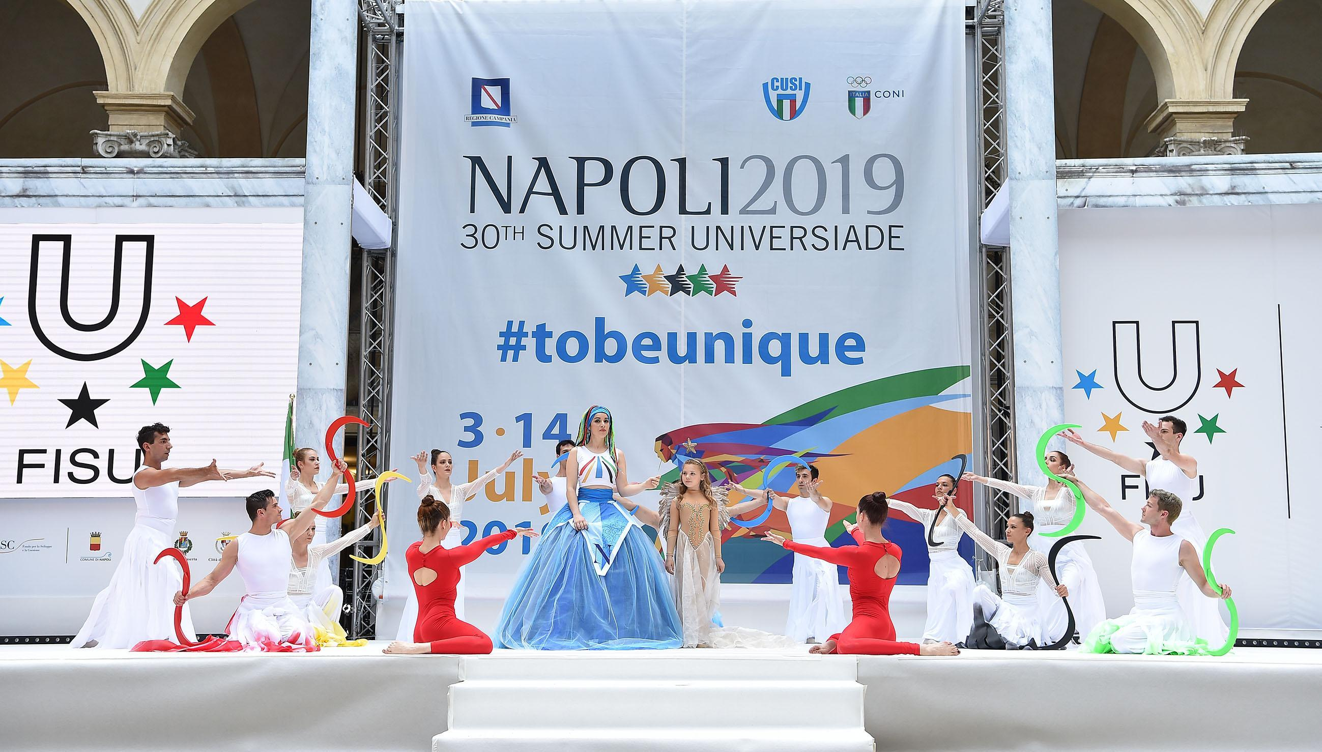 Lightening of Napoli 2019 Torch